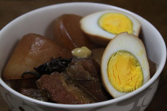 豚バラと卵と大根