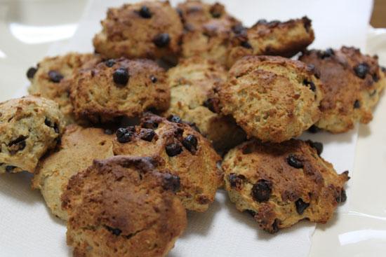 ソバ粉のチョコチップクッキー