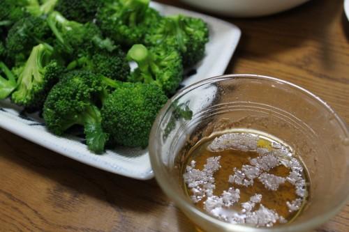 温野菜とアンチョビとオリーブ油