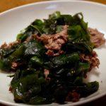 牛肉とワカメの炒め物 20190108