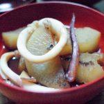 イカと大根煮物 イカ墨焼きそば