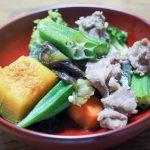 能登風?夏野菜煮物の豚肉版