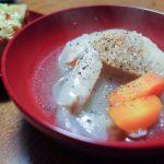 手羽先タマネギスープ、厚揚げネギ味噌焼き