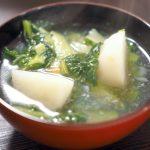 チンゲン菜とかぶの中華風スープ 20210116