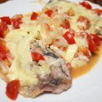 アジのトマトチーズ焼き202109