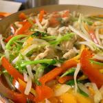 鶏の胸肉の韓国風鍋