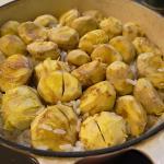 栗御飯 栗と鶏の煮物
