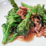 ブロッコリーと豚肉の味噌炒め 納豆ほうれん草 20180314