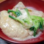 鶏手羽とダイコンとチンゲンサイの酒粕煮