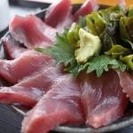 カツオ丼とイノブタ丼