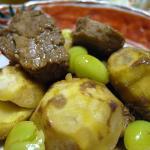 栗と銀杏と牛肉の煮物
