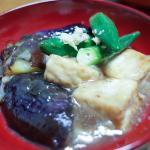 ひねずし、揚げ出し豆腐&ナス、菊姫