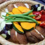 夏野菜の蒸し野菜